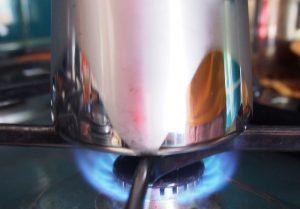 Cafea la ibric - foc